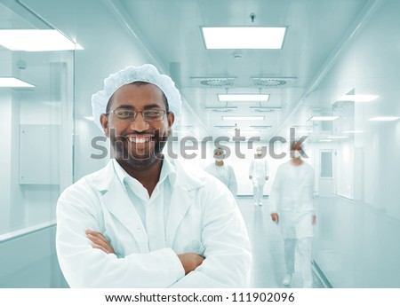 African Arabic doctor in hospital smiling