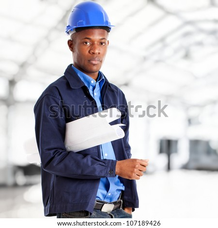 African architect portrait - stock photo