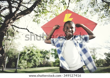 African Boy Play Leisure Happiness Concept - stock photo