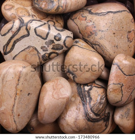 African brown pebble rocks - stock photo
