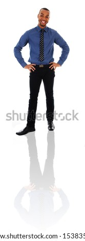 African Business man on a white background - stock photo