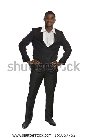 African Business Man / Student Portrait standing, Studio Shot