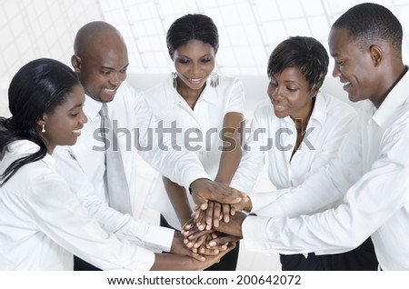 African business team alliance, Studio Shot - stock photo
