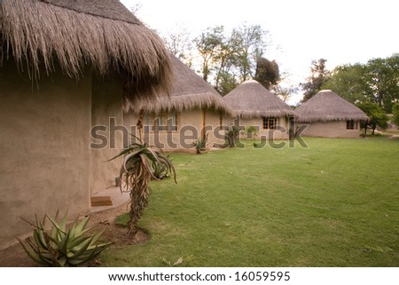 African cabins