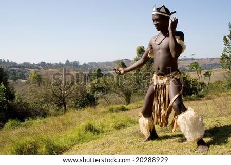 african dancer - stock photo