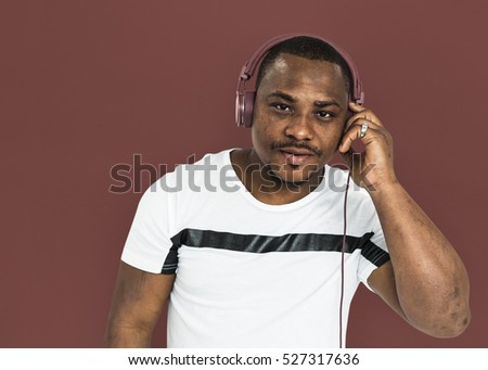 African Descent Man Studio Concept