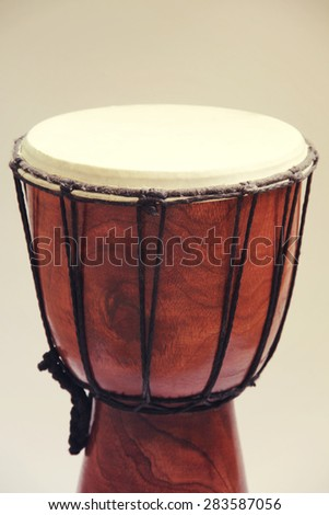African drum toned - stock photo