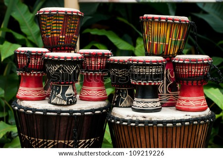 African drums tam tam's - stock photo