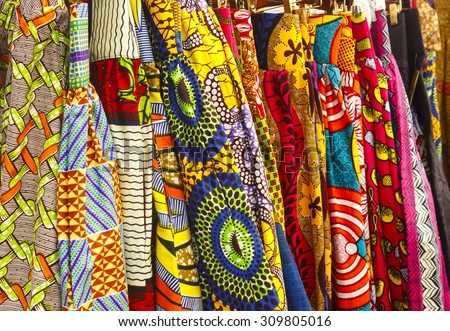 African Fabric - stock photo