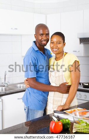 african family in kitchen