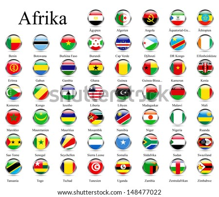 African flags - stock photo