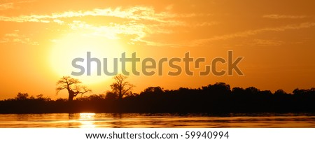 African landscape - stock photo