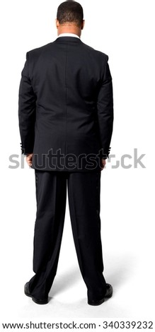 African man with short black hair in evening outfit - Isolated