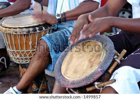 African Percussion - Traditional music - stock photo