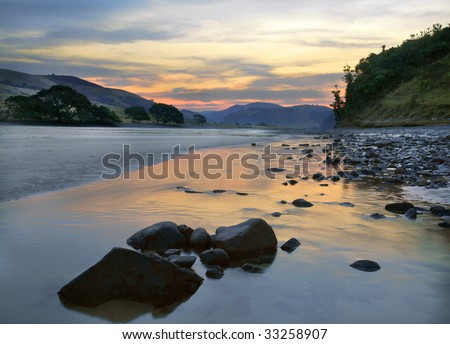 African river - stock photo