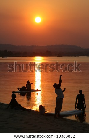 African sunset on Lake Malawi