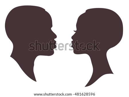 Face Silhouette Stock Images Royalty Free Images