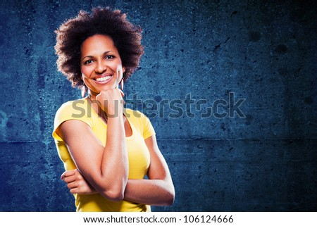 Afro american woman portrait - stock photo