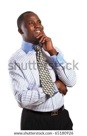 Afro man - stock photo