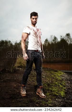 After a fight - stock photo