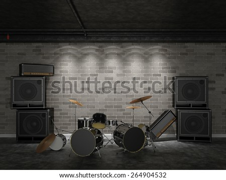 After a rock concert. Rock is alive! - stock photo