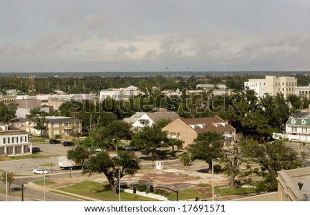 After Hurricane Katrina - stock photo