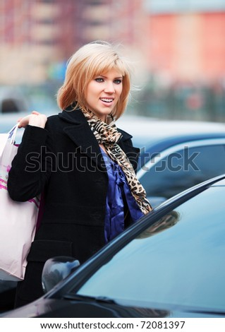After shopping - stock photo