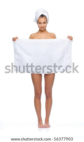 After shower beauty - stock photo