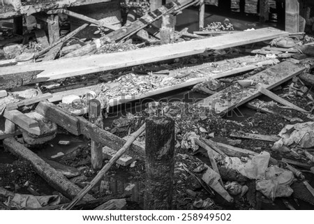 After the fire - stock photo