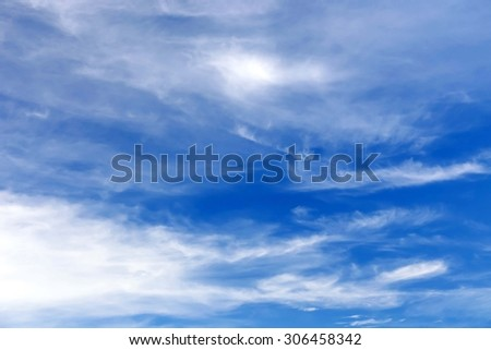 After the rain clouds with a bright sky. - stock photo