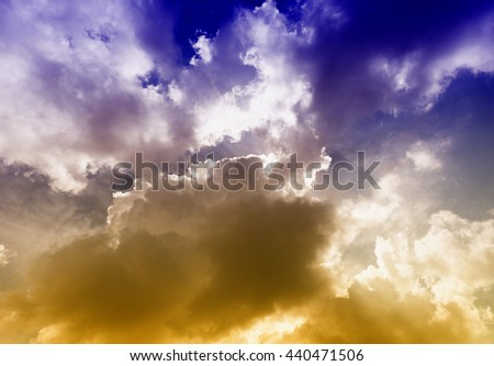 After the storm. - stock photo