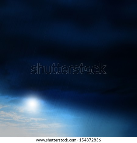 after the storm, storm passes - stock photo