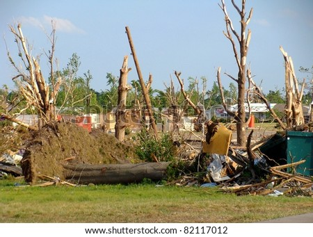 Aftermath of Joplin Missouri Tornado