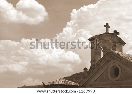 Afternoon clouds - stock photo