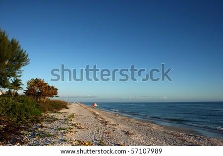 Afternoon on the Beach Sanibel Island Florida - stock photo