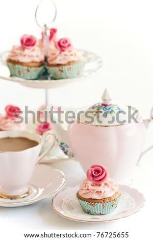 Afternoon tea - stock photo
