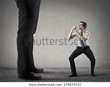 against the boss - stock photo