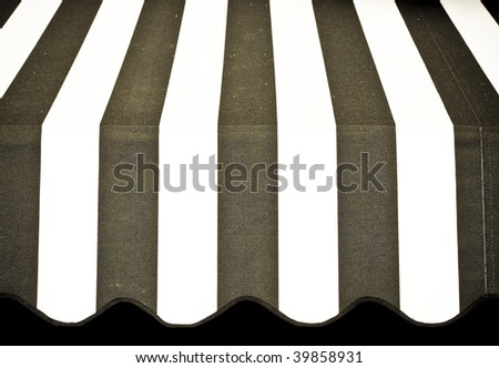 Aged and weathered awning - stock photo