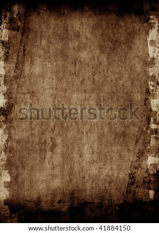 Aged background with film strip border - stock photo