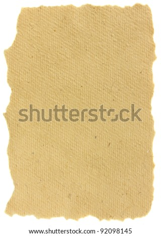 aged blank  paper isolated on white background - stock photo