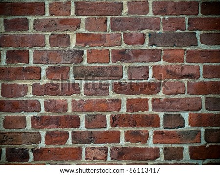 Aged brick rock texture - stock photo