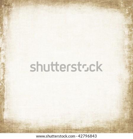 Aged canvas texture - stock photo