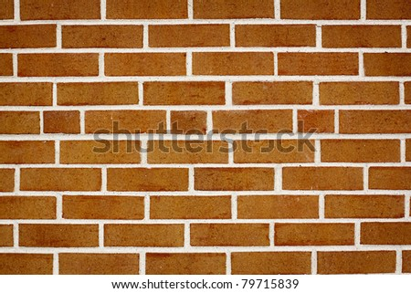 Aged, Crank and Dirty Light Brown Brick Wall - stock photo