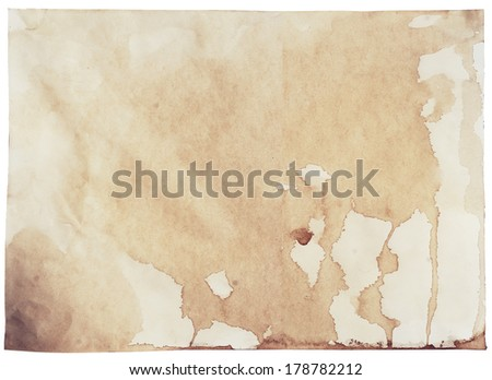 aged dirty paper - stock photo