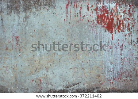 Aged faded concrete texture background. Vintage effect. Vignette. - stock photo