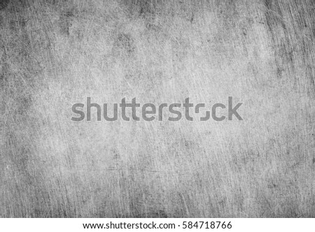 Aged grunge, scratched gray metal texture. Old iron background