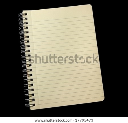 Aged lined noted pad - stock photo