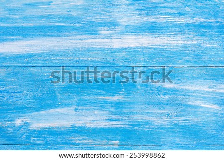 Aged old blue board texture - stock photo