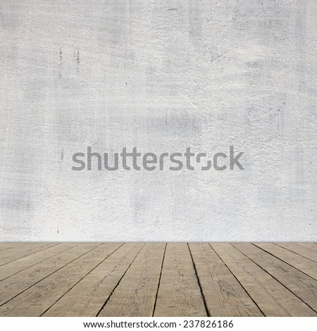 Aged room interior  - stock photo