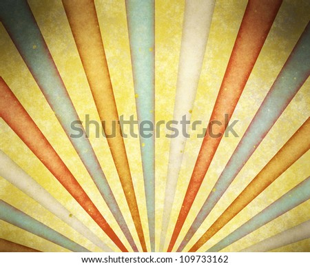 aged sun rays - stock photo